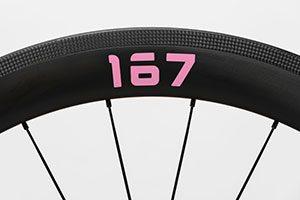 プロジェクト167ホイールの167ステッカー ピンク色