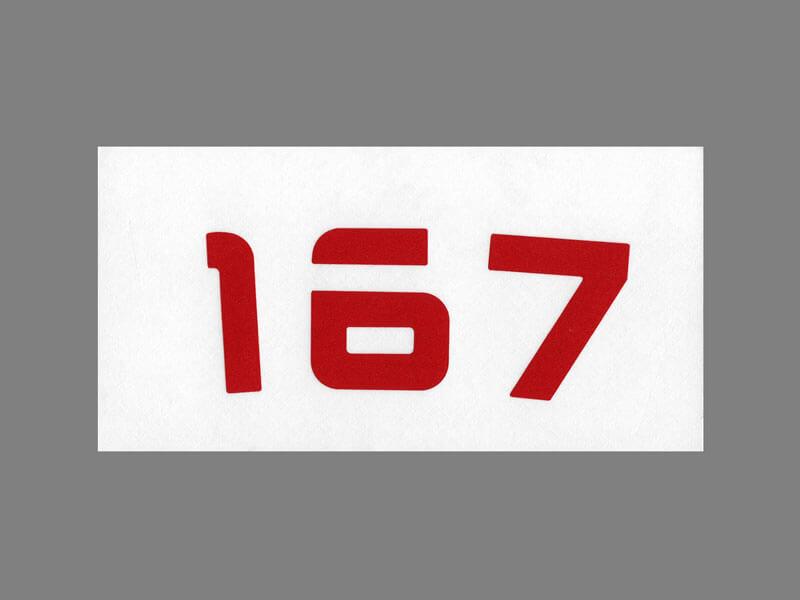 プロジェクト 167 のステッカーは11種類あり、発色も良く綺麗です。
