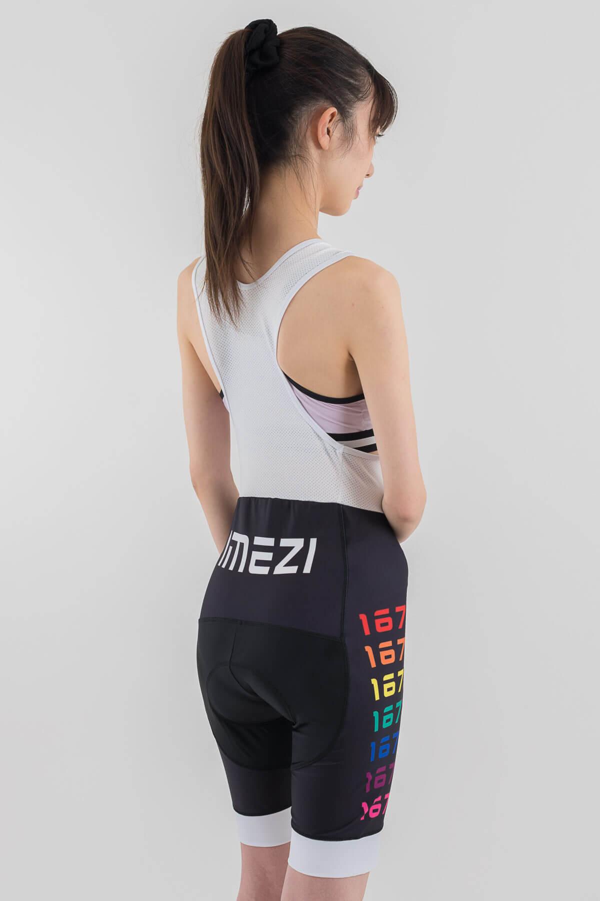 レディースサイクルウエア(imeZi)ビブショーツ右背面