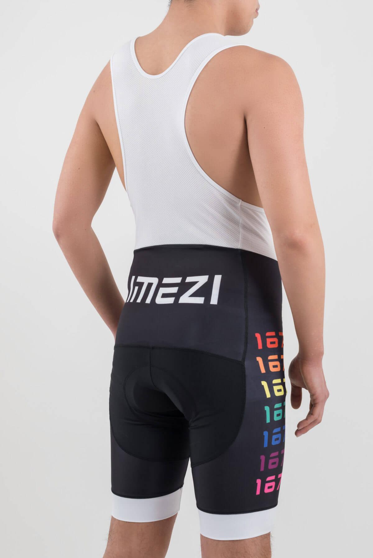メンズサイクルウエア(imeZi)ビブショーツ右背面
