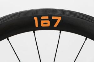 プロジェクト167ホイールの167ステッカー オレンジ色