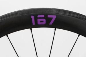 プロジェクト167ホイールの167ステッカー 紫色