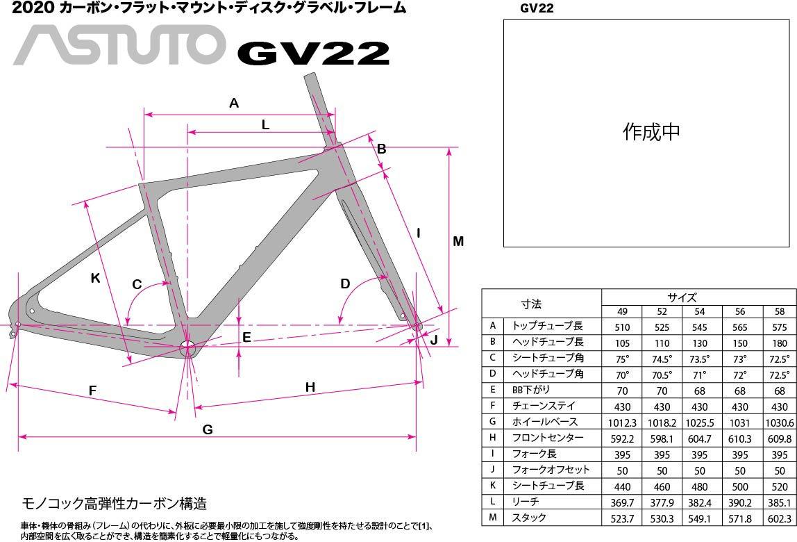 GSAstutoのグラベルアドベンチャーフレームセットGV22